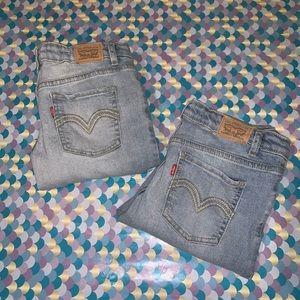 Bundle of Girl's Levi's 711 Skinny Jeans 16